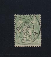 SAGE N° 102  +  CACHET  VIERZON  ( CHER )  - 28 FEV. 1901  - REF 1604 - - 1876-1878 Sage (Type I)