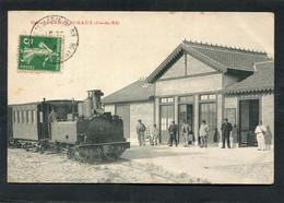 CPA - La Gare De SABLANCEAUX - Les Quais, Les Voies - Train En Gare, Animé - Ile De Ré