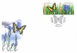 Lithuania FDC 2009 Butterflies (TS1-8) - Schmetterlinge
