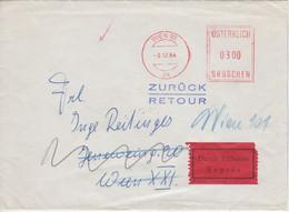 Österreich - 300 Gr. Postfreistempel Ortseilbrief Wien 1964 Retourvermerk - Zonder Classificatie