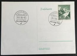 Deutsche Reich 1939 Postkarte Special Stempel  Austellung Derewige Jude Magdeburg - Covers & Documents
