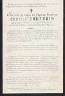 Emmanuel Godfroid  , Né à Deux - Acren Le 27 Novembre 1892 Décédé à Metz Le 25 Mai 1917, Déporté , Guerre 14-18 - Overlijden
