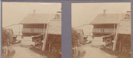 74 - CHAMONIX - Photo Stéréo 1890/1900 - Maison Savoyarde - Stereoscopic