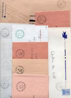 Lot De 10 Lettres - Cachets Particuliers - - Manual Postmarks