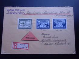 B2  / Deutsches Reich R- Brief Thorn 712 / 713 MiF SELTEN - Cartas