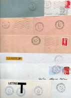 Lot De 10 Lettres - Cachets Particuliers - - Bolli Manuali