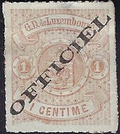 Luxembourg - Luxemburg - Timbres-Armoires 1875  1C.  Officiel     Michel 1 IA    VC. 55,- * - 1859-1880 Wappen & Heraldik