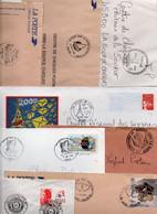Lot De 8 Lettres - Cachets Commémoratifs - - Bolli Manuali