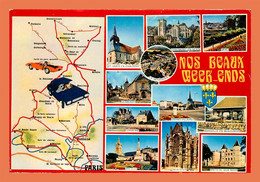 A482 / 593 60 - OISE Nos Beaux Week-end ( Carte Géographique ) - Non Classificati