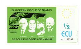 "13583"" EUROPEAN CIRCLE OF NAMUR-1/2 ECU "" Cm. 6,8 X 12,5 - Unclassified"