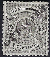 Luxembourg - Luxemburg - Timbres-Armoires 1875  2C.  Officiel     Michel 11 IA    VC. 15,- + - 1859-1880 Wappen & Heraldik