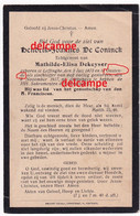 Oorlog Guerre Hendrik De Coninck Leffinge Bombardement Te Oostende November 1917 Middelkerke Wilskerke Mariakerke - Devotion Images