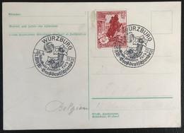 Deutsche Reich 1939 Postkarte Special Stempel Propaganda Wûrzburg - Brieven En Documenten