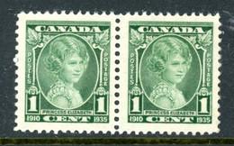 Canada MNH Pair 1935 Queen Elizabeth - Unused Stamps