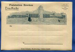 POSTSTATION  BROCKEN  Drucksache  Ca. 1920  Ungebraucht - Briefe U. Dokumente