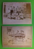 2 Photos RARES Carabins  Autopsie 1899 Montpellier 24.5x17.8cms 24x18.7cm éditeur Bras Montpellier - Old (before 1900)