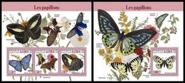 DJIBOUTI 2021 - Butterflies, M/S + S/S. Official Issue [DJB210310] - Butterflies