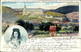 Artiste CPA Kretschmar, O., Rudolstadt In Thüringen, Trachten, Panorama Vom Ort - Other