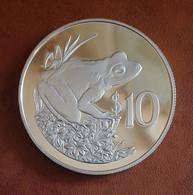 Fiji 10 Dollars Frog 1986 Elisabeth II Figi Silver Bullion - Fiji