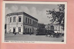 OLD POSTCARD - ITALY - ITALIA -      TRAMVIA - STAZIONE DEI TRAM - AVERSA - Aversa