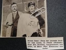 THIELT (BRABANT) DE ZEVENDE DOCHTER VAN LOUIS / EM. BOXTENS BURGEMEESTER WAS PETER MEVR. KIESECOMS WAS METER - Ohne Zuordnung