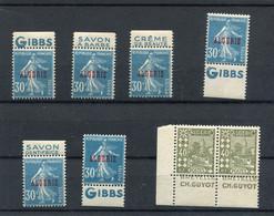 !!! ALGERIE, LOT DE TIMBRES PUBLICITAIRES NEUFS * - Unused Stamps