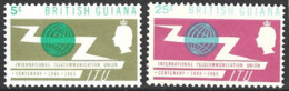 British Guiana   1965 SG  370-1  I T U  Mounted Mint - Guyane Britannique (...-1966)
