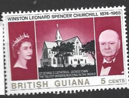 British Guiana   1965 SG  374  5c  Churcjhill     Mounted Mint - Guyane Britannique (...-1966)