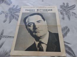 M-168 ,  Election Du Président De La République, 19 Décembre 1965, François Mitterand, Candidat Des Républicains - Documenti Storici