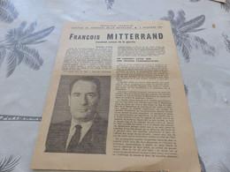 M-169 ,  Election Du Président De La République, 19 Décembre 1965, François Mitterand, Candidat Unique De La Gauche - Documenti Storici