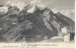 Riffelberg Et Le Weisshorn. Circulée Cachet RIFFELALP 1908. Valais. Wallis. - VS Valais