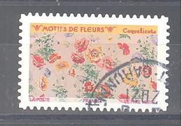 France Autoadhésif Oblitéré (Motifs De Fleurs : Coquelicots) (cachet Rond) - 2010-.. Matasellados