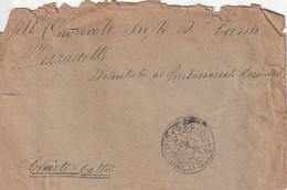 A82. S. Silvestro. 1914. Annullo Frazionario (19 - 124) Su Lettera Affrancata Al Verso Con Leoni C.5 X 8 - Marcophilia