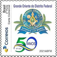 Freemasonry - Masonic - Francmaconnerie - 50e  Anniversaire De Grand Orient Brasilia - Freemasonry