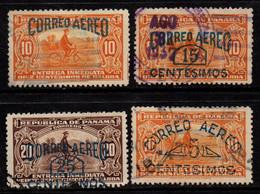 N317D - PANAMA - 1929 - SC#:  C2-C5 - USED - AIR STAMPS - OVERPRINTED - Panamá