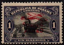 N317E - PANAMA - 1930 - SC#:  C6 - MH - 'PLANE - OVERPRINTED - Panama