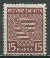 SBZ Provinz Sachsen 1945 Provinzwappen 80 Y B Postfrisch Geprüft - Zona Sovietica