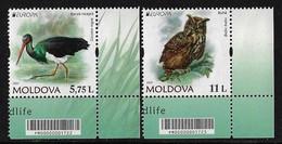 """MOLDAVIA /MOLDOVA /MOLDAWIEN  -EUROPA 2021 -ENDANGERED NATIONAL WILDLIFE""""- SERIE De 2 V. - CB - 2021"""