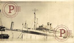 RPPC CARTE PHOTO USS MERCY SS SARATOGA HOSPITAL PASSENGER SHIP US ARMY TROOP TRANSPORT MILITARY TROOPS WW1 WORLD WAR ONE - Guerra