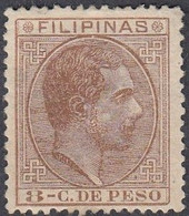 Philippines, Scott #83, Mint Hinged, Alfonso XII, Issued 1880 - Philipines