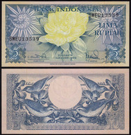 Indonesien - Indonesia 5 Rupiah Banknote 1959 Pick 65 UNC (1)  (14360 - Andere - Azië