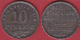 Bochum Hattingen 10 Pfennig 1918 Kriegsgeld Notgeld Eisen Funk 49.1   (4058 - Other