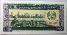 Billete Laos. (1979). 100 Kip. Comunista. Mujer Agricultora. Soldado. Fábrica. SC. Sin Circular Posibilidad Correlativos - Laos