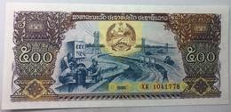 Billete Laos. 1988. 500 Kip. Comunista. Mujer Agricultora. Soldado. Fábrica. SC. Sin Circular. Posibilidad Correlativos - Laos