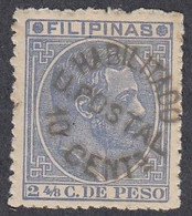 Philippines, Scott #91, Mint No Gum, Alfonso XII Surcharged, Issued 1881 - Philipines