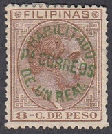 Philippines, Scott #99, Mint No Gum, Alfonso XII Surcharged, Issued 1881 - Philipines