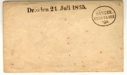51001 - DRESDEN 21 Juli 1865 - SÄNGER  FEST  PLATZ - Ohne Zuordnung
