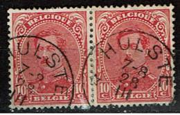 138  Paire  Obl  Relais  Hulste - 1915-1920 Alberto I