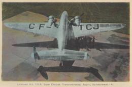 CPA - Lockheed 14's Super Electra - Compagnie Trans Canada Air Lines - Aéroport De Régina ( Canada ) - 1919-1938: Entre Guerres