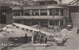 CPA - Lockheed Electra - Compagnie P.L.L  ( Polskie Linje Lotnicze LOT ) - Aéroport De Varsovie - 1919-1938: Entre Guerres